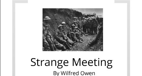 Analysis of 'Strange Meeting' by Wilfred Owen