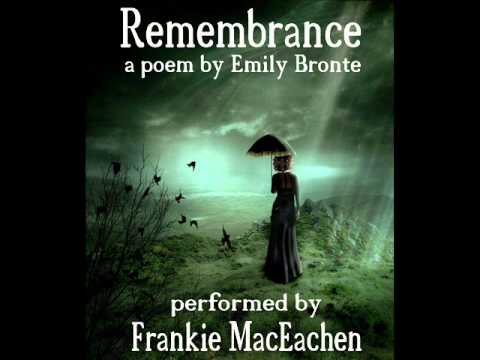 analysis, poetry, poem, literature, Remembrance, Emily Bronte