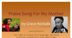 Analysis of 'Praise song for my mother' by Grace Nichols