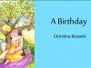 A Birthday' by Christina Rossetti