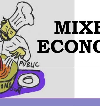 Defining a Mixed Economy
