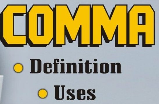 Function of Comma